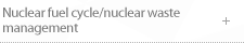 Nuclear fuel cycle/nuclear waste management